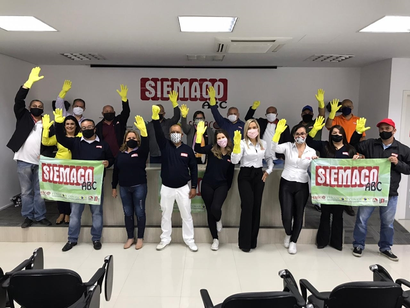 Siemaco ABC participa do Dia Internacional da Justiça para Trabalhadores da Limpeza
